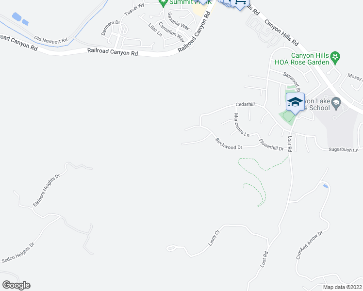 map of restaurants, bars, coffee shops, grocery stores, and more near 31863 Willow Wood Court in Lake Elsinore