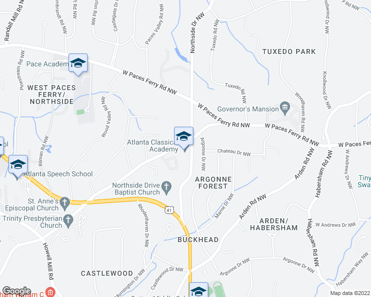 map of restaurants, bars, coffee shops, grocery stores, and more near 625 Moores Mill Road in Atlanta
