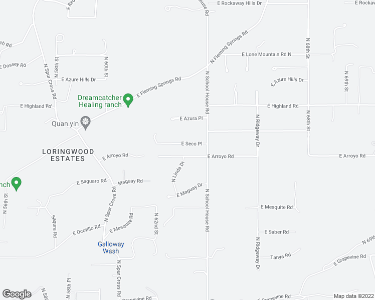 map of restaurants, bars, coffee shops, grocery stores, and more near 6323 E Seco Pl in Cave Creek