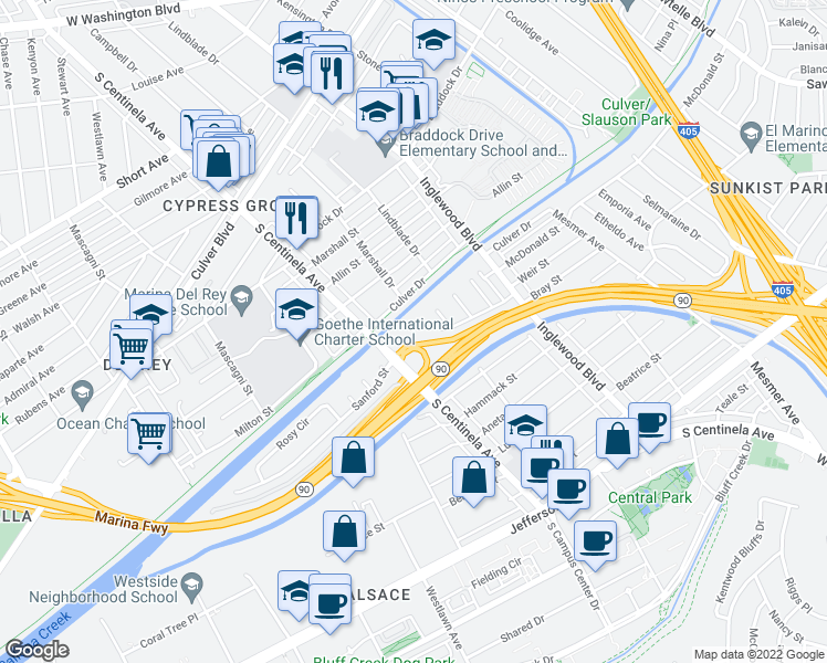 Map Of Restaurants Bars Coffee Shops Grocery Stores And More Near