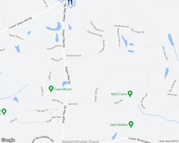 map of restaurants, bars, coffee shops, grocery stores, and more near 382 Old Brown Rd in Alpharetta