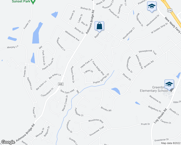 map of restaurants, bars, coffee shops, grocery stores, and more near 3 Cresswell Court in Mauldin