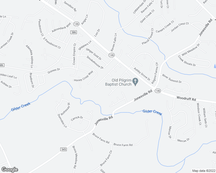 map of restaurants, bars, coffee shops, grocery stores, and more near 5 Rustling Creek Ct in Simpsonville