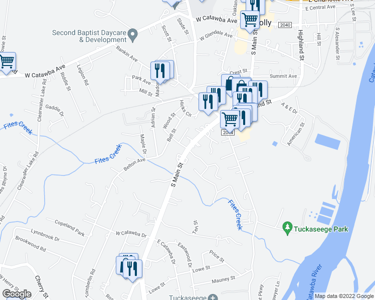map of restaurants, bars, coffee shops, grocery stores, and more near 805 South Main Street in Mount Holly