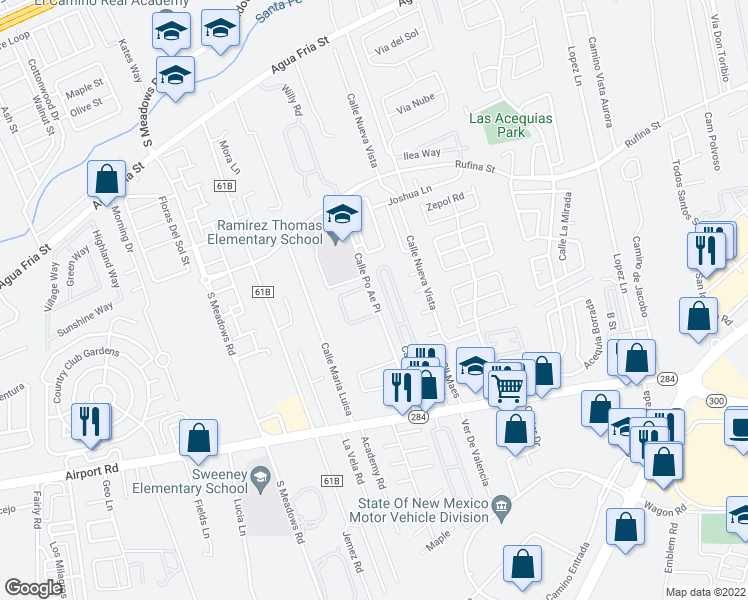 map of restaurants, bars, coffee shops, grocery stores, and more near Calle Po Ae Pi in