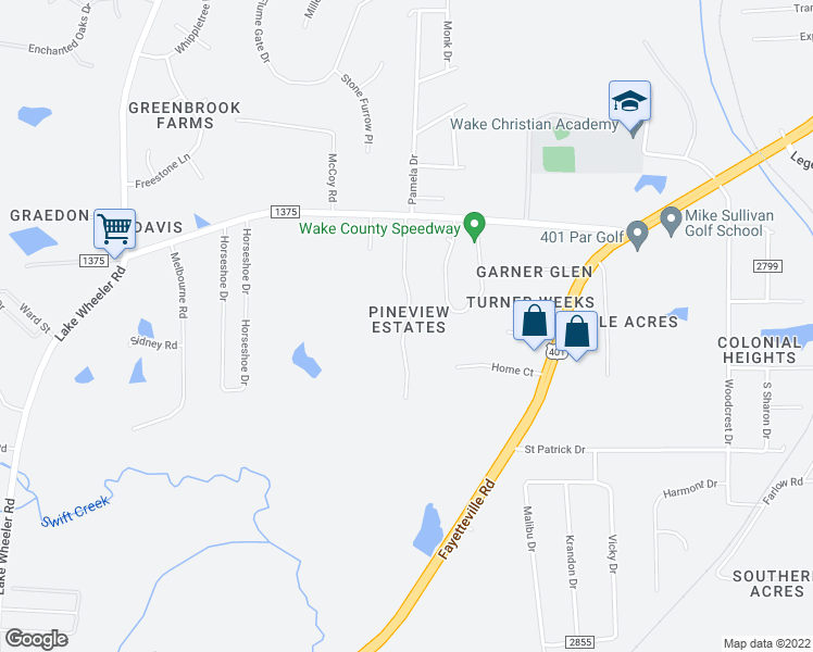 map of restaurants, bars, coffee shops, grocery stores, and more near 5801-6209 Briarwood Drive in Raleigh