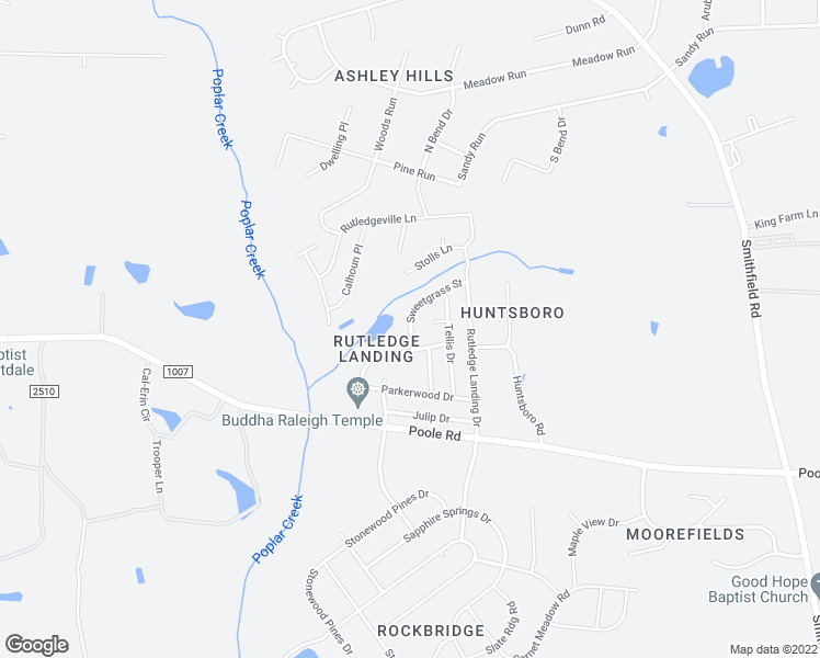 map of restaurants, bars, coffee shops, grocery stores, and more near 5165 Limewood St in Knightdale