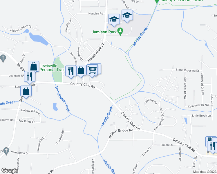map of restaurants, bars, coffee shops, grocery stores, and more near Brookberry Drive in Winston-Salem