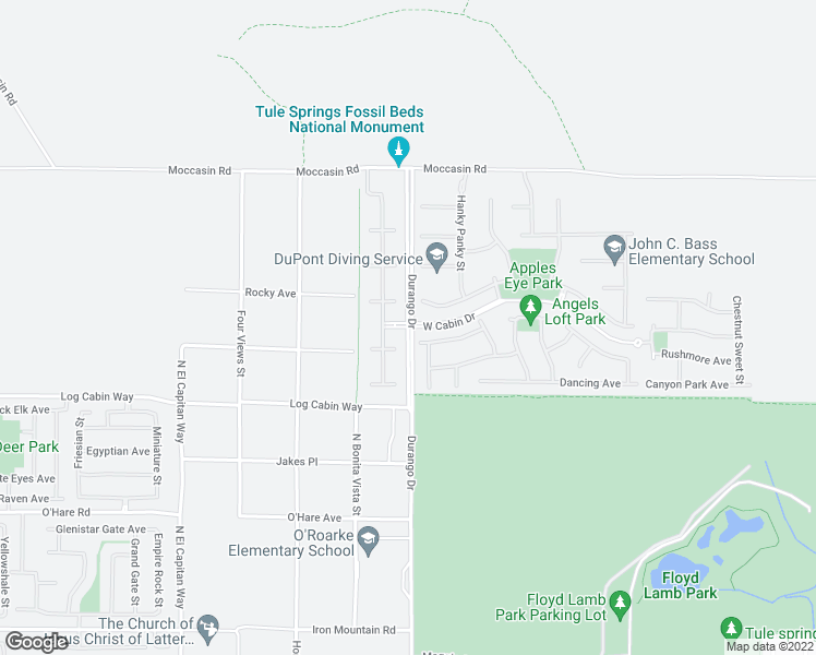 map of restaurants, bars, coffee shops, grocery stores, and more near Durango Dr in Las Vegas