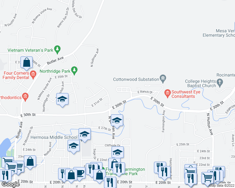 map of restaurants, bars, coffee shops, grocery stores, and more near 1927 Hollyhock Circle in Farmington