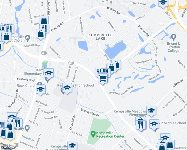 map of restaurants, bars, coffee shops, grocery stores, and more near 4938 Princess Anne Road in Virginia Beach