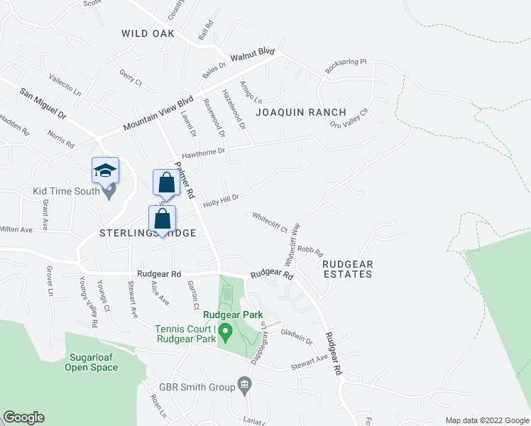 map of restaurants, bars, coffee shops, grocery stores, and more near  in Walnut Creek