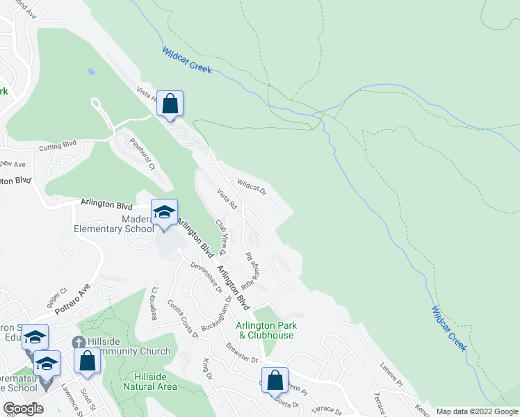 map of restaurants, bars, coffee shops, grocery stores, and more near 8414 Bel View Ct in El Cerrito