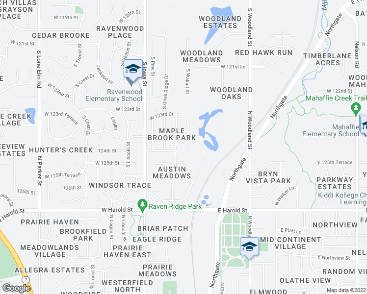map of restaurants, bars, coffee shops, grocery stores, and more near 12470 South Crestone Street in Olathe