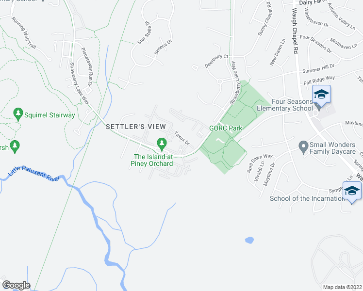 map of restaurants, bars, coffee shops, grocery stores, and more near 800 Hydric Court in Odenton