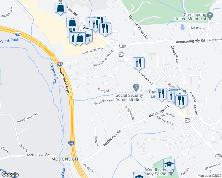 map of restaurants, bars, coffee shops, grocery stores, and more near 4 Hartley Cir in Garrison