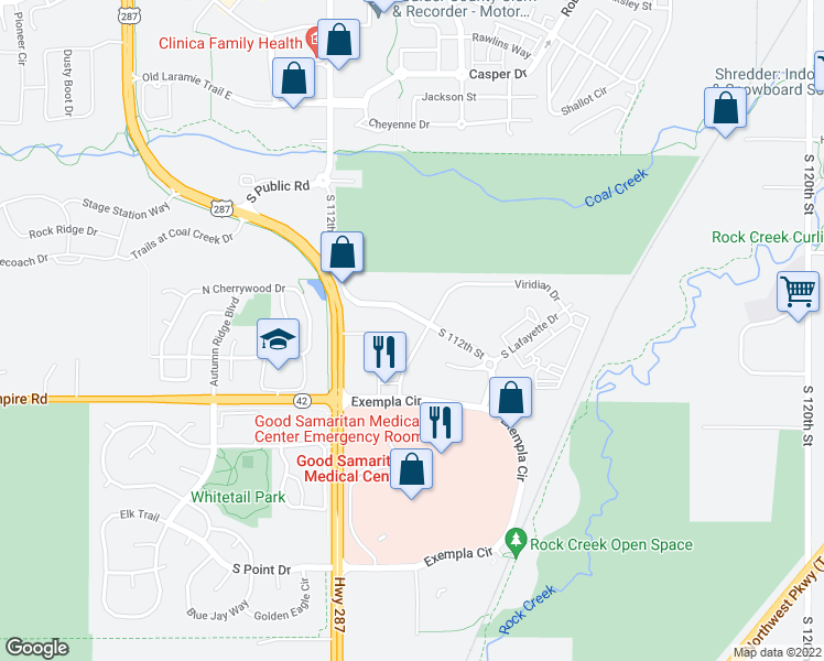 map of restaurants, bars, coffee shops, grocery stores, and more near in Boulder County