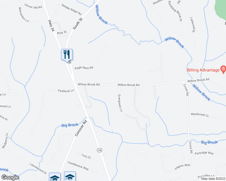 map of restaurants, bars, coffee shops, grocery stores, and more near 2 Evergreen Lane in Colts Neck