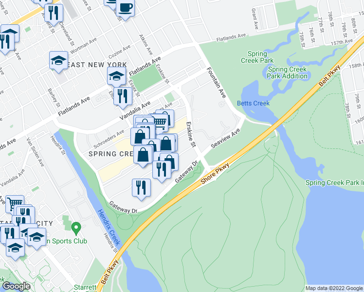 map of restaurants, bars, coffee shops, grocery stores, and more near 3 in Brooklyn