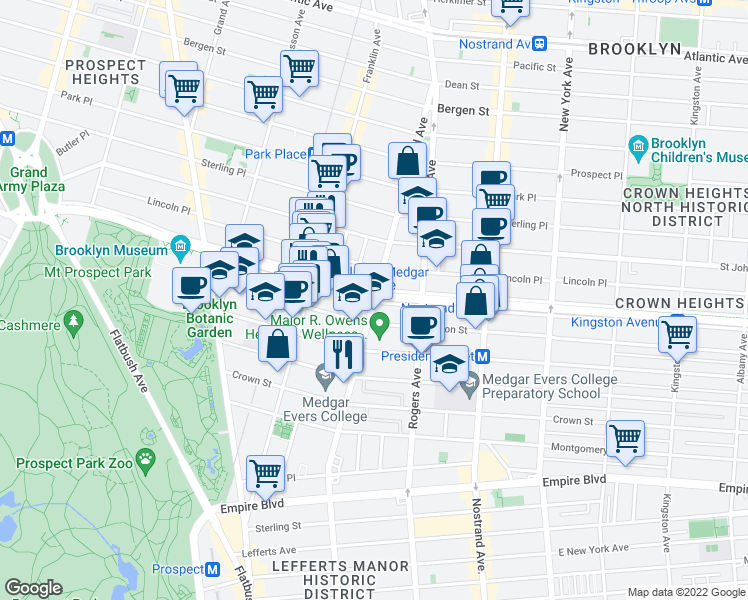 map of restaurants, bars, coffee shops, grocery stores, and more near Brooklyn-Queens Greenway & Bedford Ave in Brooklyn