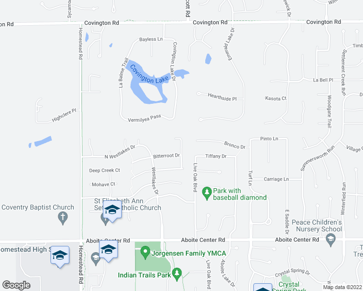 map of restaurants, bars, coffee shops, grocery stores, and more near 3517 Torch Lake Drive in Fort Wayne