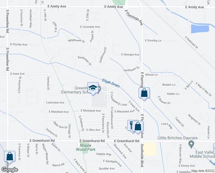 map of restaurants, bars, coffee shops, grocery stores, and more near 1701 Discovery Place in Nampa