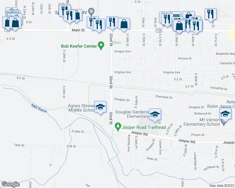 map of restaurants, bars, coffee shops, grocery stores, and more near 790 South 32nd Place in Springfield