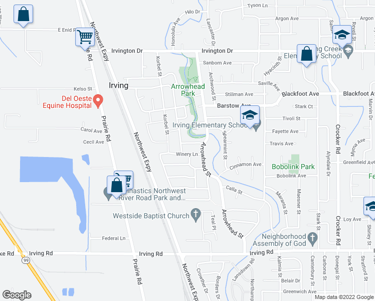 map of restaurants, bars, coffee shops, grocery stores, and more near 1265 Sonoma Dr in Eugene