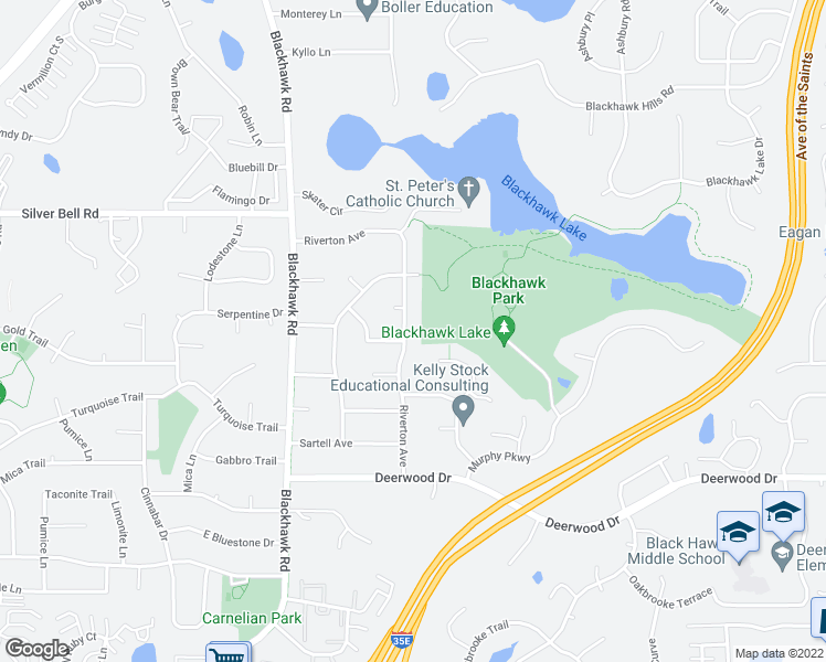 map of restaurants, bars, coffee shops, grocery stores, and more near 3888 Riverton Avenue in Eagan