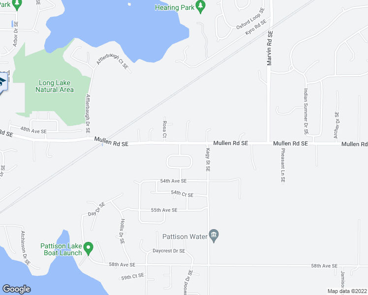 map of restaurants, bars, coffee shops, grocery stores, and more near 8309 49th Loop SE in Olympia