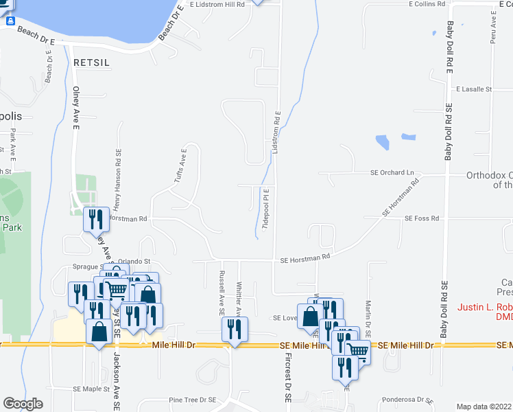 map of restaurants, bars, coffee shops, grocery stores, and more near 2107 Kelp Pl E in Port Orchard