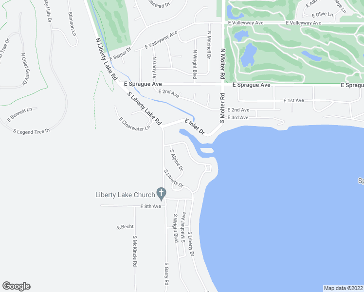 map of restaurants, bars, coffee shops, grocery stores, and more near 321 S Shoreline Dr in Liberty Lake