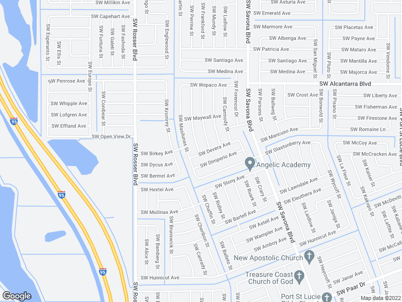map of restaurants, bars, coffee shops, grocery stores, and more near 1474 SW Devera Ave in Port St Lucie