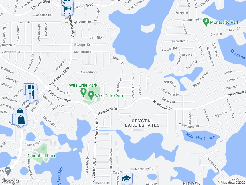 map of restaurants, bars, coffee shops, grocery stores, and more near 1535 Gregory Dr in Deltona