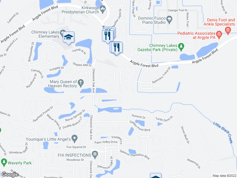 map of restaurants, bars, coffee shops, grocery stores, and more near 8608 Bandera Cir S in Jacksonville